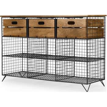 Amph Hallway Storage Console, Mango Wood (H80 x W122 x D41cm)