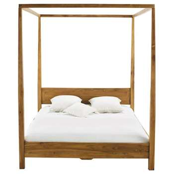 AMSTERDAM Acacia King Size Four-Poster Bed (H210 x W173 x D216cm)