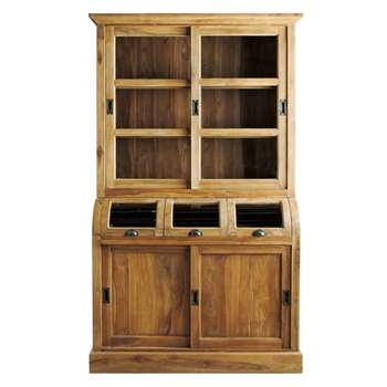 AMSTERDAM Solid Teak China Cabinet (H210 x W130 x D54cm)