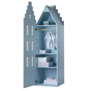 Amsterdam Stair Gable Wardrobe in Pastel Colours 195 x 55cm