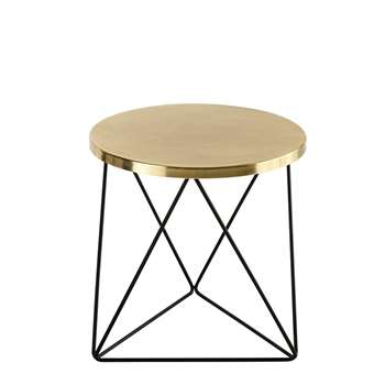 AMY Black and Gold Metal End Table (45 x 43.5cm)