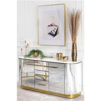 Anastasia Sideboard with Brass Details (H71 x W149 x D39cm)