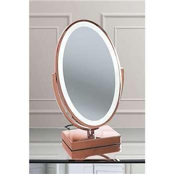 Andersen Rose Gold Vanity Mirror (H53 x W30.5 x D17cm)
