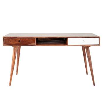 ANDERSEN Solid sheesham wood vintage desk (75 x 150cm)