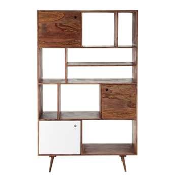 ANDERSEN Solid sheesham wood vintage shelf unit W 120cm