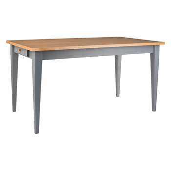 Anderson 4-6 Seater Oak And Grey Dining Table (H75 x W150 x D80cm)