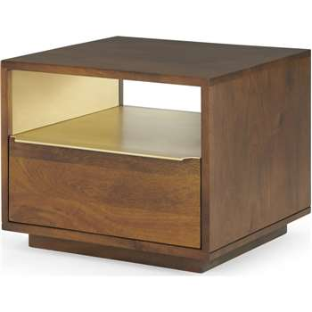 Anderson Bedside Table, Mango Wood (H40 x W50 x D46cm)