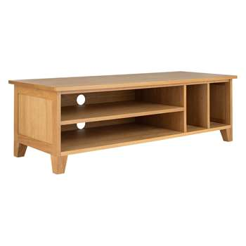 Anderson Solid Oak Tv Stand (H50 x W129 x D40cm)