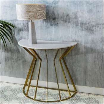 Andre Half Moon Console (H79 x W89 x D45cm)