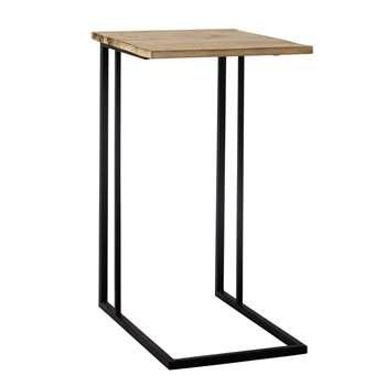 ANDREW metal side table in black (74 x 40cm)