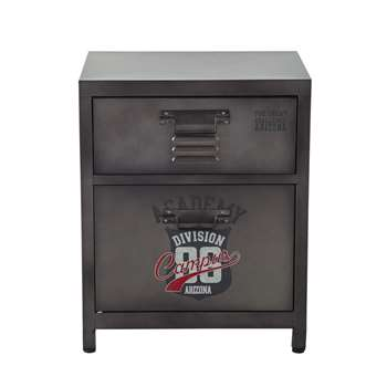 ANDREWS Metal bedside table with drawer (55 x 44cm)