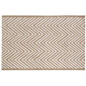 ANGAUR Brown Outdoor Carpet with Graphic Motifs (160 x 230cm)