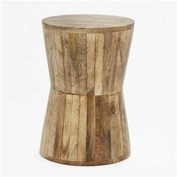 Angled Mango Side Table - Natural (40 x 26cm)
