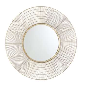 ANISSA Round Gold Wire Mirror (95 x 95cm)