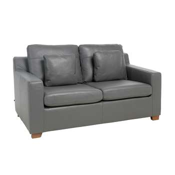Ankara leather two seater sofa bed grey (75 x 160cm)