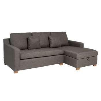 Ankara right hand corner sofa bed with storage truffle (75 x 228cm)