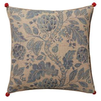 Ankinara Cushion Cover, Large - Blue/Natural