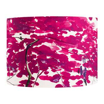 Anna Jacobs - Chinese Tree Lamp Shade - Pink/Violet - Medium (H21 x W30 x D30cm)