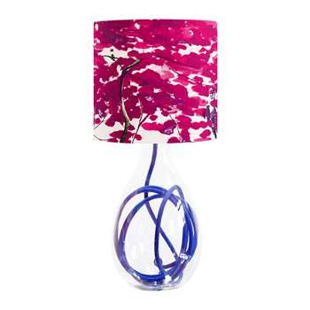 Anna Jacobs - Chinese Tree Lamp Shade - Pink/Violet - Small (H18 x W20 x D20cm)
