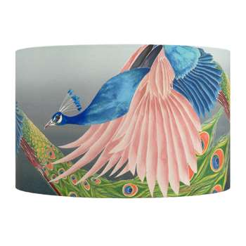 Anna Jacobs - Flying Peacock Lamp Shade - Large (H25 x W40 x D40cm)