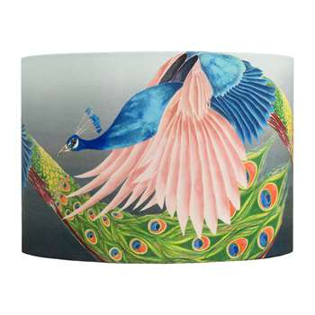 Anna Jacobs - Flying Peacock Lamp Shade - Medium (H21 x W30 x D30cm)