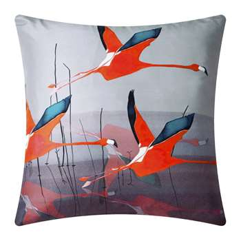 Anna Jacobs - Orange Breaking Dawn Silk Cushion (H45 x W45cm)
