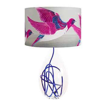 Anna Jacobs - Violet Backed Starling Lamp Shade - Large (H25 x W40 x D40cm)
