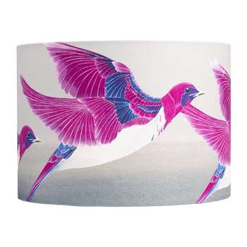 Anna Jacobs - Violet Backed Starling Lamp Shade - Medium (H21 x W30 x D30cm)