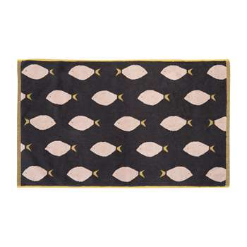 Anorak - Fish Bath Mat - Black (H50 x W80cm)