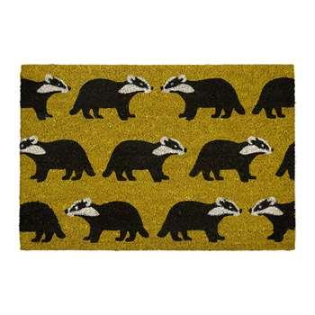 Anorak - Kissing Badgers Doormat (H50 x W75 x D1.5cm)