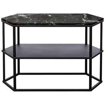 Another Brand Favo Long Console Table, Black (H52 x W80 x D38cm)