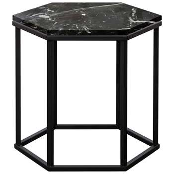Another Brand Favo Low Console Table, Black (H40 x W44 x D38cm)