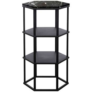 Another Brand Favo Tall Console Table, Black (H77 x W44 x D38cm)