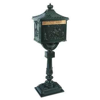 ANTAN Cast Aluminium Decorative Letterbox (H117 x W42 x D29.5cm)