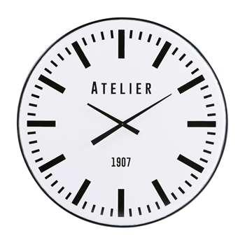 ANTHONY White Metal Clock (94 x 94cm)
