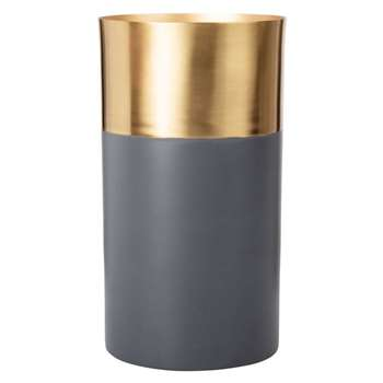 Anthracite Grey Metal Vase (H23 x W12.5 x D12.5cm)