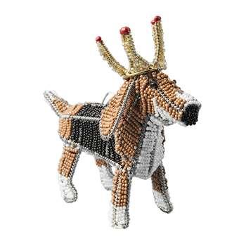 Anthropologie Home - Regal Beagle Ornament (H11 x W13 x D6cm)
