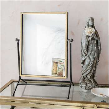 Antique Gold Table Mirror (H44 x W33 x D21cm)