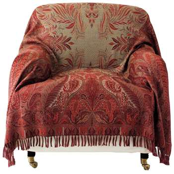 Antique-Style Paisley Wool Throw (150 x 210cm)