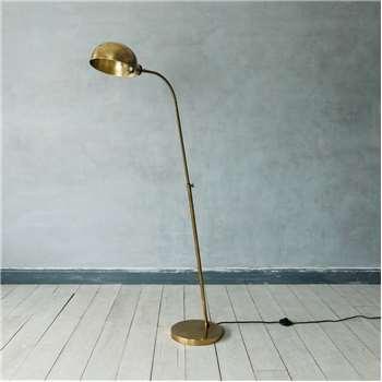 Antiqued Brass Floor Lamp (H145 x W81 x D28cm)