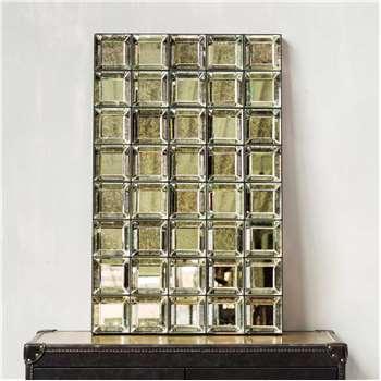 Antiqued Squares Mirror (H120 x W75 x D7cm)