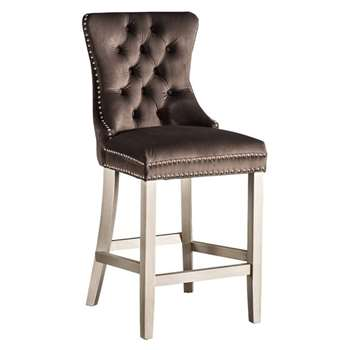 Antoinette Bar stool Mink (H94 x W49 x D51cm)