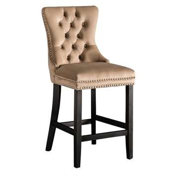 Antoinette Bar stool Taupe (H94 x W49 x D51cm)