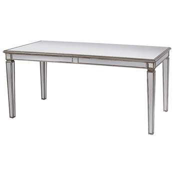 Antoinette Toughened Mirror Dining Table (H75 x W160 x D90cm)