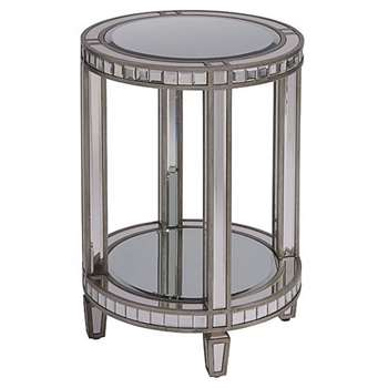 Antoinette Toughened Mirror Side Table (H66 x W45 x D45cm)