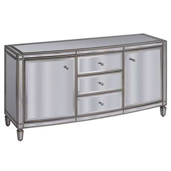 Antoinette Toughened Mirror Sideboard (H74 x W140 x D45cm)