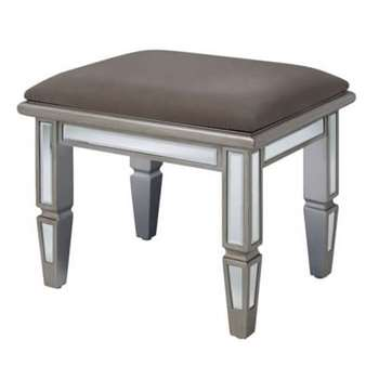 Antoinette Toughened Mirror Stool (43 x 50cm)