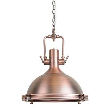 Anton Copper Large Pendant Light (H40 x W40 x D40cm)