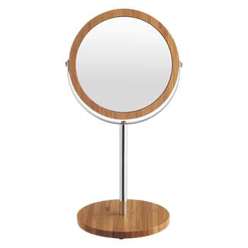 Anya Natural bamboo shaving mirror (Diameter 13cm)