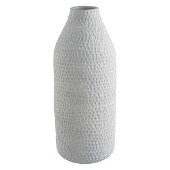 Anzia White ceramic bottle vase